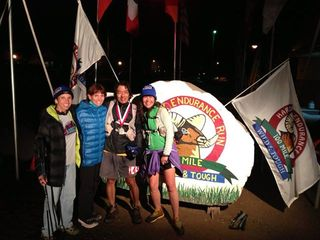 Larry and crew at finish